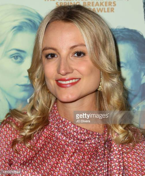 """Actress Vanessa Eichholz attends the LA special screening of Sony's """"The Burnt Orange Heresy"""" at Linwood Dunn Theater on March 02, 2020 in Los..."""