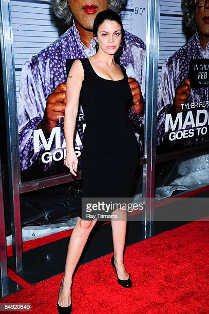 Actress Vanessa Ferlito attends a screening of Tyler Perry's Madea Goes to Jail at the AMC Loews Lincoln Center on February 18 2009 in New York City