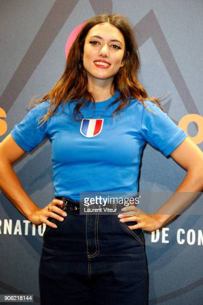 Actress Vanessa Guide attends 'Comme des Garcons' Premiere during the 21st Alpe D'Huez International Comedy Film Festival on January 17 2018 in Alpe...