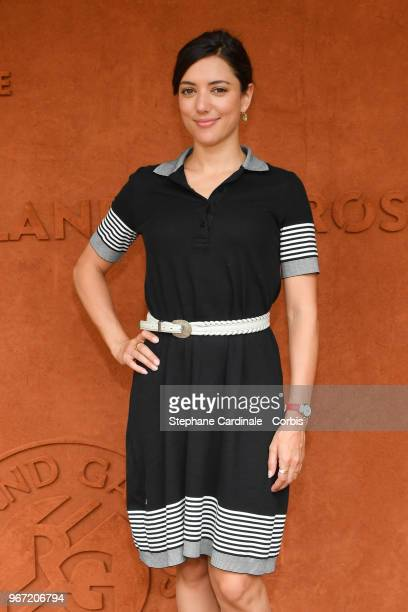 Actress Vanessa Guide attends the 2018 French Open Day Nine at Roland Garros on June 4 2018 in Paris France