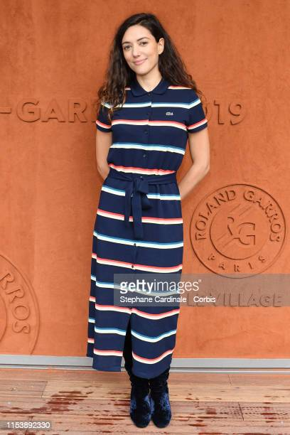 Actress Vanessa Guide attends the 2019 French Tennis Open - Day Eleven at Roland Garros on June 05, 2019 in Paris, France.