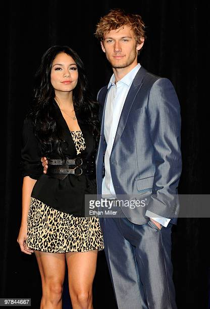 Actress Vanessa Hudgens and actor Alex Pettyfer arrive at the CBS Films presentation to promote their upcoming movie Beastly at the Paris Las Vegas...
