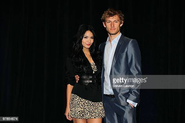 Actress Vanessa Hudgens and actor Alex Pettyfer arrive at the CBS Films presentation to promote their upcoming movie 'Beastly' at Paris Las Vegas...