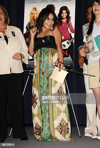 Actress Vanessa Hudgens and Girl Scouts of Greater Los Angeles attend a special screening of 'Bandslam' for Girls Scouts of America at the Harmony...