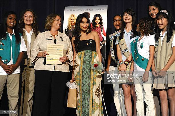 Actress Vanessa Hudgens and Girl Scouts of Greater Los Angeles attend a special screening of Bandslam for Girls Scouts of America at the Harmony Gold...
