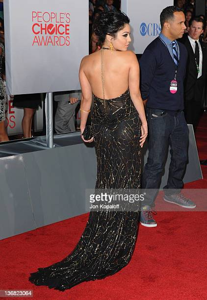 Actress Vanessa Hudgens arrives at 2012 People's Choice Awards held at Nokia Theatre LA Live on January 11 2012 in Los Angeles California