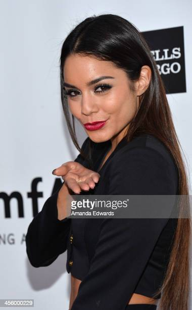 Actress Vanessa Hudgens arrives at amfAR The Foundation for AIDS 4th Annual Inspiration Gala at Milk Studios on December 12 2013 in Hollywood...
