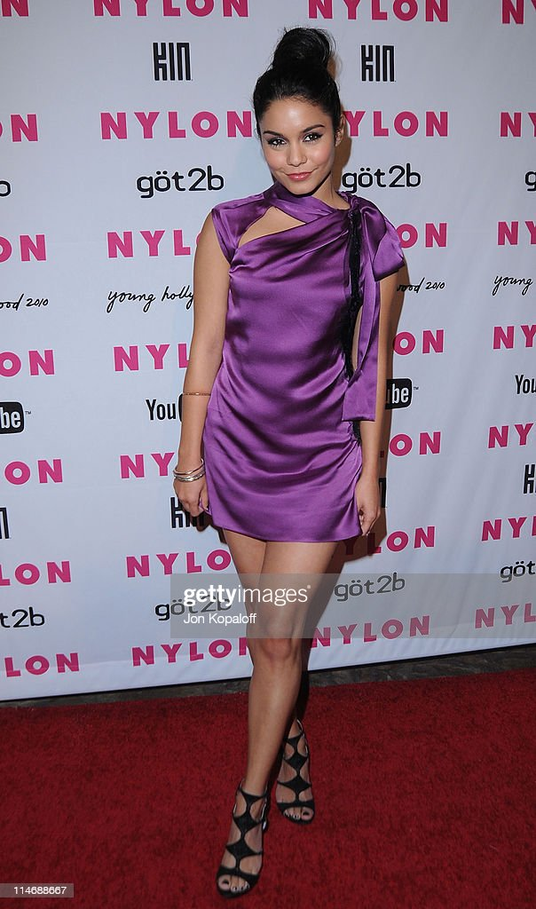 Actress Vanessa Hudgens arrives at NYLON Magazine's May Issue Young Hollywood Launch Party at The Roosevelt Hotel on May 12, 2010 in Hollywood, California.