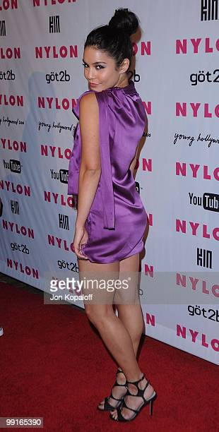 Actress Vanessa Hudgens arrives at NYLON Magazine's May Issue Young Hollywood Launch Party at The Roosevelt Hotel on May 12 2010 in Hollywood...