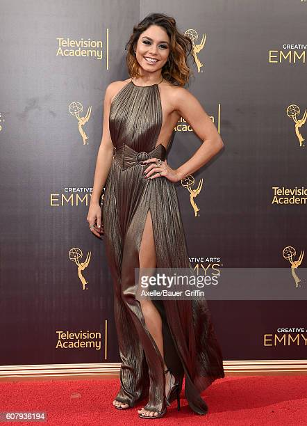 Actress Vanessa Hudgens arrives at the 2016 Creative Arts Emmy Awards at Microsoft Theater on September 11 2016 in Los Angeles California