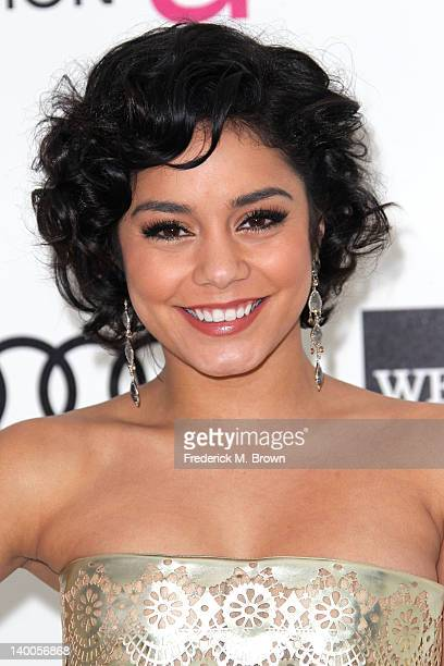 Actress Vanessa Hudgens arrives at the 20th Annual Elton John AIDS Foundation's Oscar Viewing Party held at West Hollywood Park on February 26 2012...