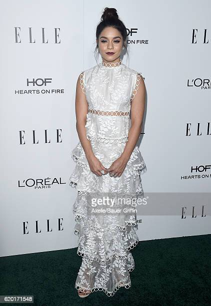Actress Vanessa Hudgens arrives at the 23rd Annual ELLE Women In Hollywood Awards at Four Seasons Hotel Los Angeles at Beverly Hills on October 24,...