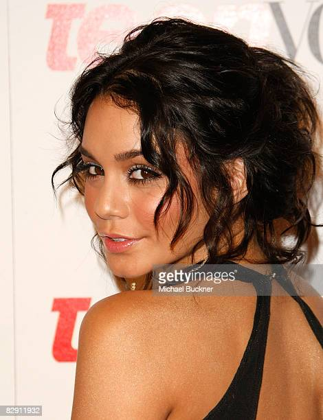 Actress Vanessa Hudgens arrives at the 6th Annual Teen Vogue Young Hollywood Party at the Los Angeles County Museum of Art on September 18 2008 in...