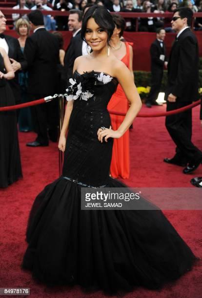 Actress Vanessa Hudgens arrives at the 81st Academy Awards at the Kodak Theater in Hollywood, California on February 22, 2009. AFP PHOTO Jewel SAMAD