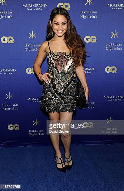 Actress Vanessa Hudgens arrives at the grand opening of Hakkasan Las Vegas Restaurant and Nightclub at the MGM Grand Hotel/Casino on April 27 2013 in...