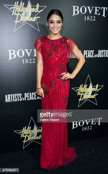 Actress Vanessa Hudgens arrives at the Hollywood Domino Bovet 1822's 7th Annual PreOscar Hollywood Domino Gala Tournament at Sunset Tower Hotel on...