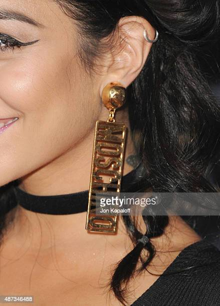 Actress Vanessa Hudgens arrives at the Premiere Of The Vladar Company's Jeremy Scott The People's Designer at TCL Chinese 6 Theatres on September 8...
