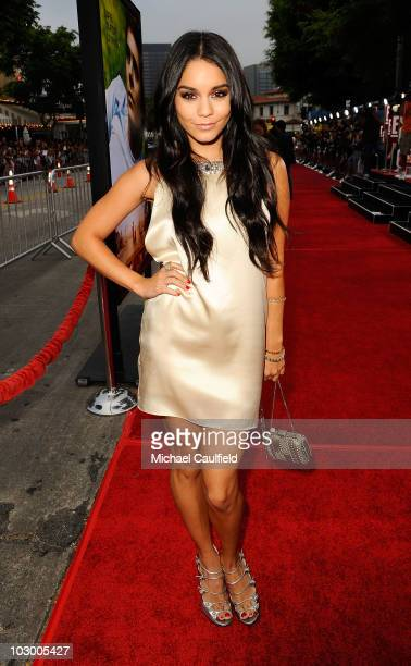 Actress Vanessa Hudgens arrives at the premiere of Universal Pictures' Charlie St Cloud held at the Regency Village Theatre on July 20 2010 in...