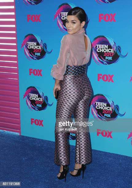 Actress Vanessa Hudgens arrives at the Teen Choice Awards 2017 at Galen Center on August 13 2017 in Los Angeles California