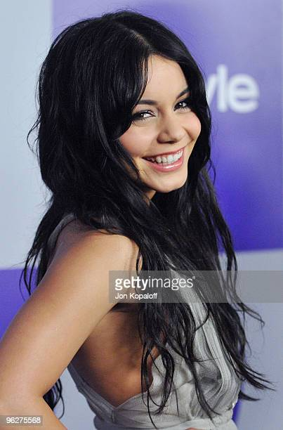 Actress Vanessa Hudgens arrives at the Warner Brothers/InStyle Golden Globes After Party at The Beverly Hilton Hotel on January 17 2010 in Beverly...