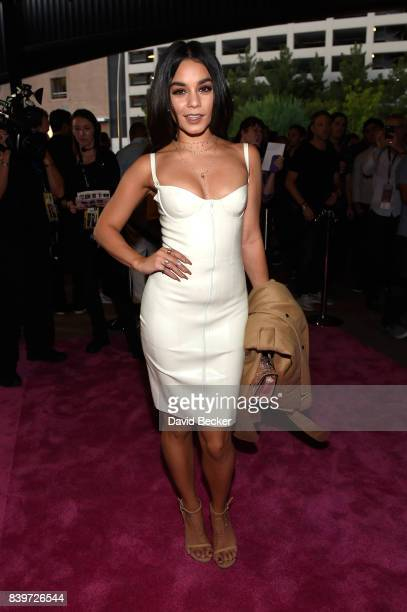 Actress Vanessa Hudgens arrives on TMobile's magenta carpet duirng the Showtime WME IME and Mayweather Promotions VIP PreFight Party for Mayweather...