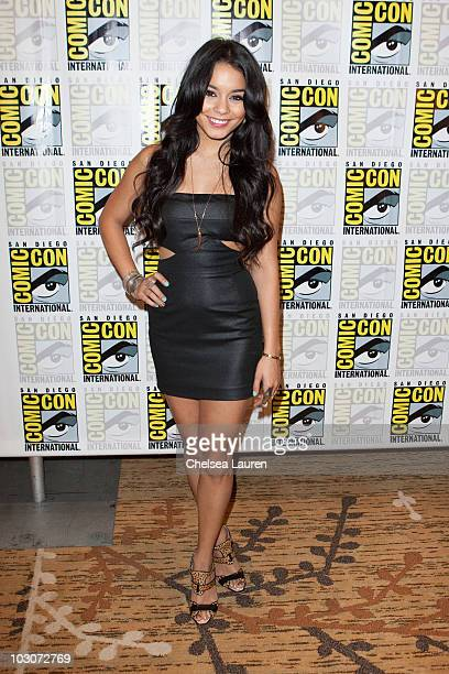 Actress Vanessa Hudgens attends a red carpet for 'Sucker Punch' on day 3 of ComicCon International at San Diego Convention Center on July 24 2010 in...