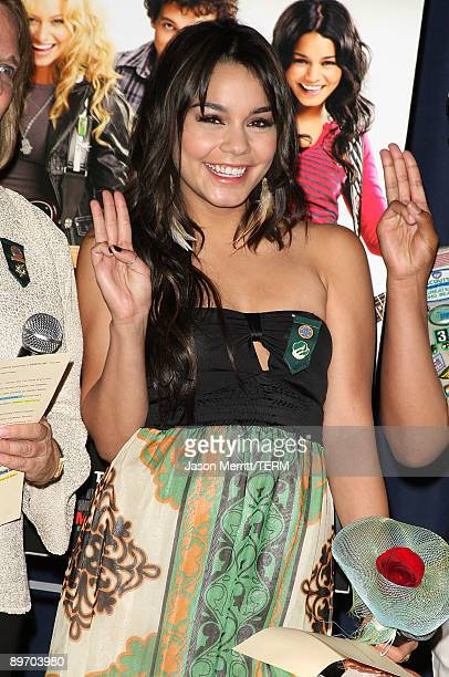 Actress Vanessa Hudgens attends a special screening of 'Bandslam' for the Girl Scouts of Greater Los Angeles at the Harmony Gold Preview House and...