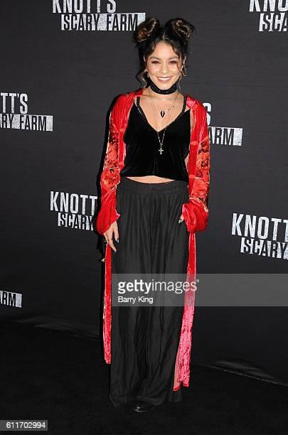 Actress Vanessa Hudgens attends Knott's Scary Farm black carpet event at Knott's Berry Farm on September 30 2016 in Buena Park California