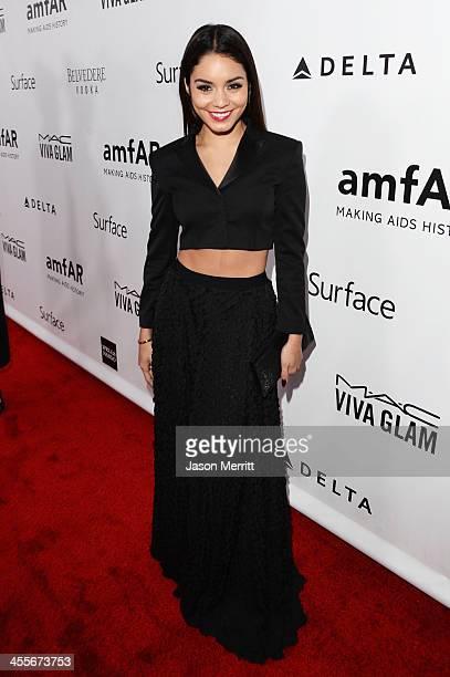 Actress Vanessa Hudgens attends the 2013 amfAR Inspiration Gala Los Angeles at Milk Studios on December 12 2013 in Los Angeles California