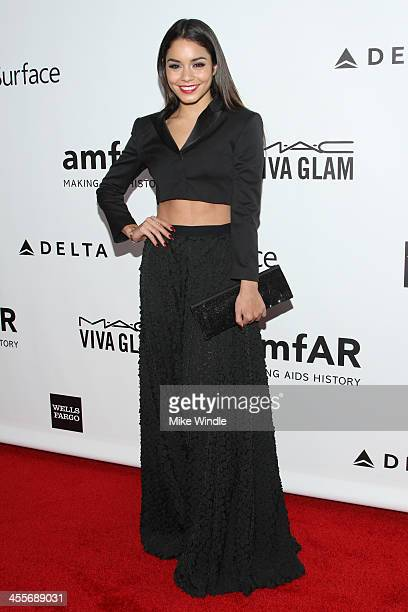 Actress Vanessa Hudgens attends the 2013 amfAR Inspiration Gala Los Angeles at Milk Studios on December 12 2013 in Los Angeles California