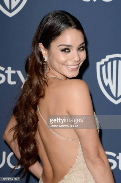 Actress Vanessa Hudgens attends the 2014 InStyle and Warner Bros 71st Annual Golden Globe Awards PostParty on January 12 2014 in Beverly Hills...