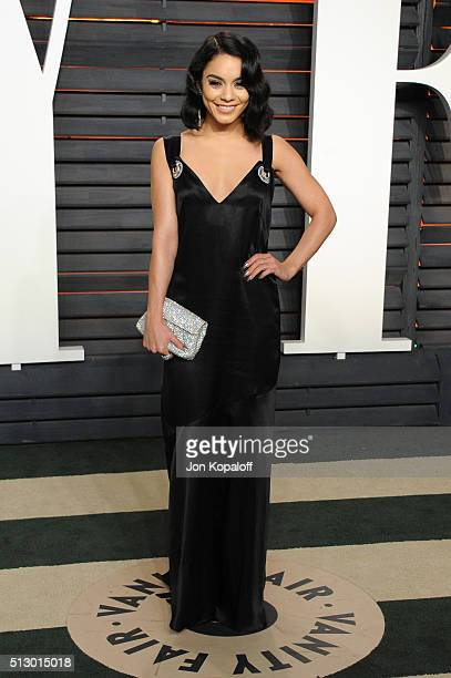 Actress Vanessa Hudgens attends the 2016 Vanity Fair Oscar Party hosted By Graydon Carter at Wallis Annenberg Center for the Performing Arts on...