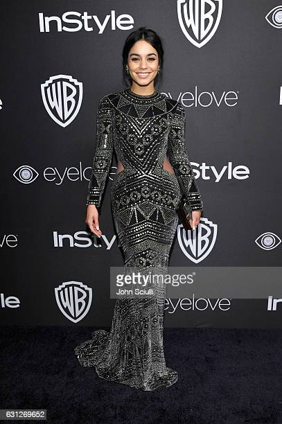 Actress Vanessa Hudgens attends The 2017 InStyle and Warner Bros 73rd Annual Golden Globe Awards PostParty at The Beverly Hilton Hotel on January 8...