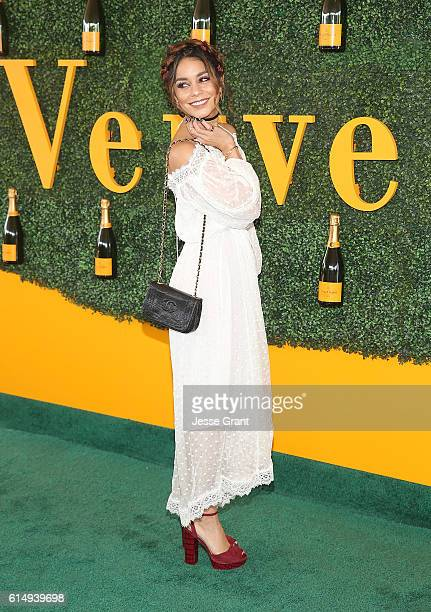 Actress Vanessa Hudgens attends the 7th Annual Veuve Clicquot Polo Classic at Will Rogers State Historic Park on October 15 2016 in Pacific Palisades...