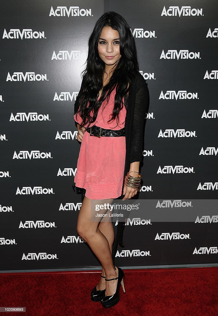 Actress Vanessa Hudgens attends the Activision kick-off party for E3 at Staples Center on June 14, 2010 in Los Angeles, California.