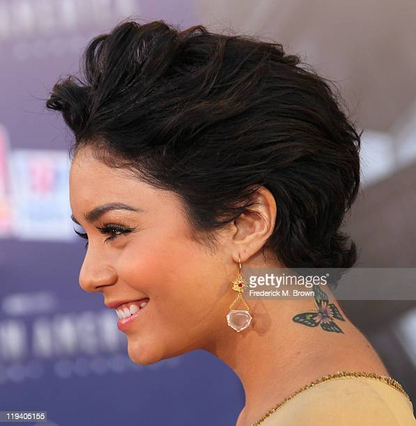 Actress Vanessa Hudgens attends the 'Captain America The First Avenger' Los Angeles Premiere at the El Capitan Theater on July 19 2011 in Hollywood...
