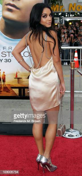 Actress Vanessa Hudgens attends the Charlie St Cloud film premire at the Regency Village Theater on July 20 2010 in Los Angeles California