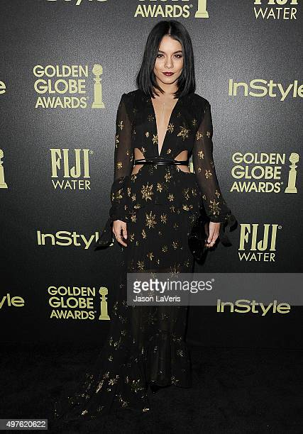 Actress Vanessa Hudgens attends the Hollywood Foreign Press Association and InStyle's celebration of the 2016 Golden Globe award season at Ysabel on...