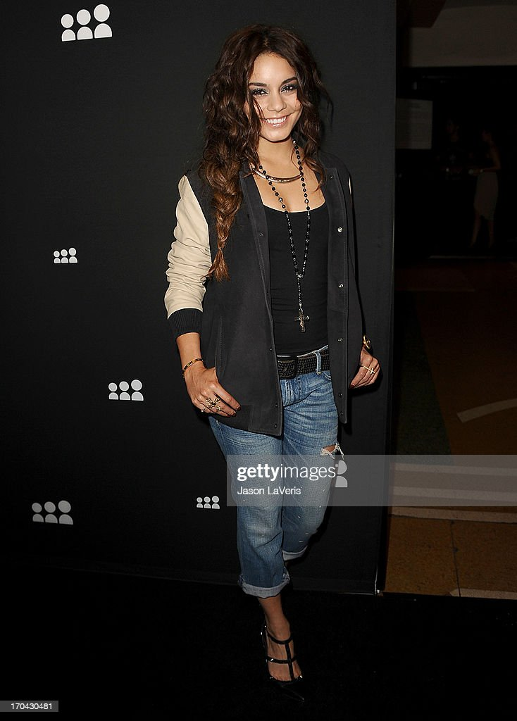 Actress Vanessa Hudgens attends the Myspace artist showcase event at El Rey Theatre on June 12, 2013 in Los Angeles, California.