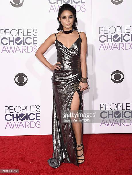 Actress Vanessa Hudgens attends the People's Choice Awards 2016 at Microsoft Theater on January 6 2016 in Los Angeles California