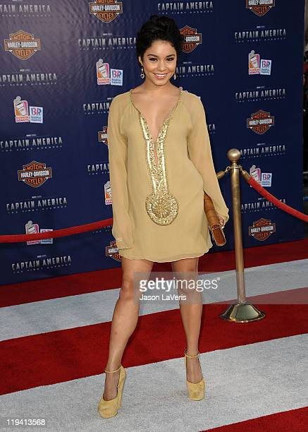 Actress Vanessa Hudgens attends the premiere of Captain America The First Avenger at the El Capitan Theatre on July 19 2011 in Hollywood California
