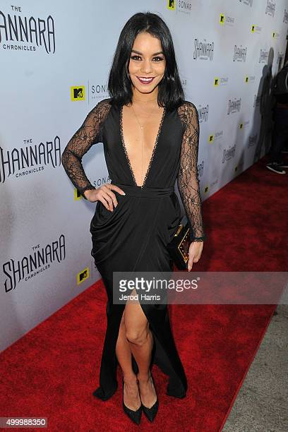 Actress Vanessa Hudgens attends the series premiere party for 'The Shannara Chronicles' On MTV at iPic Theaters on December 4 2015 in Los Angeles...