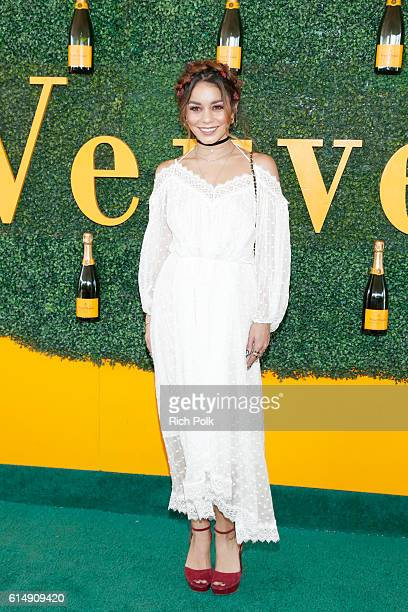 Actress Vanessa Hudgens attends the Seventh Annual Veuve Clicquot Polo Classic Los Angeles at Will Rogers State Historic Park on October 15 2016 in...
