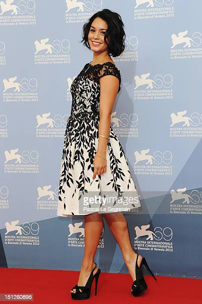 Actress Vanessa Hudgens attends the 'Spring Breakers' Photocall during the 69th Venice Film Festival at the Palazzo del Casino on September 5 2012 in...
