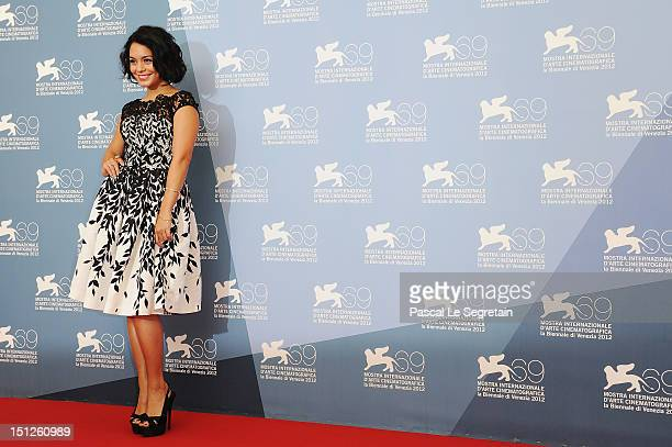 Actress Vanessa Hudgens attends the Spring Breakers Photocall during the 69th Venice Film Festival at the Palazzo del Casino on September 5 2012 in...