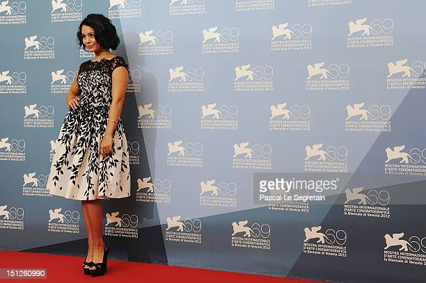 """Actress Vanessa Hudgens attends the """"Spring Breakers"""" Photocall during the 69th Venice Film Festival at the Palazzo del Casino on September 5, 2012..."""