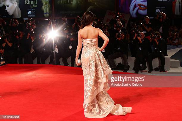Actress Vanessa Hudgens attends the Spring Breakers Premiere during The 69th Venice Film Festival at the Palazzo del Cinema on September 5 2012 in...