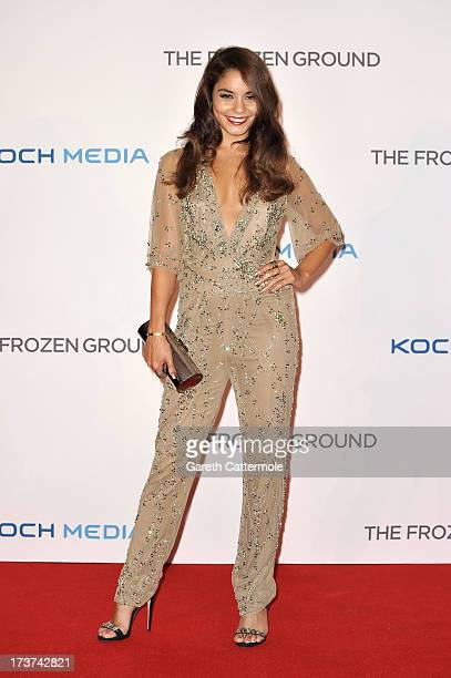 Actress Vanessa Hudgens attends the UK Premiere of 'The Frozen Ground' at Vue West End on July 17 2013 in London England