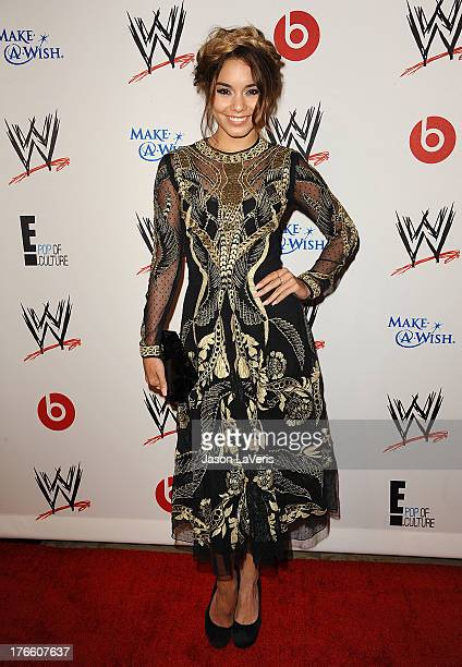 Actress Vanessa Hudgens attends the WWE SummerSlam VIP party at Beverly Hills Hotel on August 15, 2013 in Beverly Hills, California.