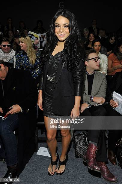 Actress Vanessa Hudgens attends the Yigal Azrouel Fall 2011 fashion show during Mercedes-Benz Fashion Week at The Studio at Lincoln Center on...